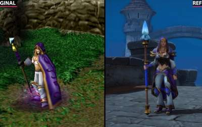 Графику ремастера Warcraft III: Reforged сравнили с оригиналом