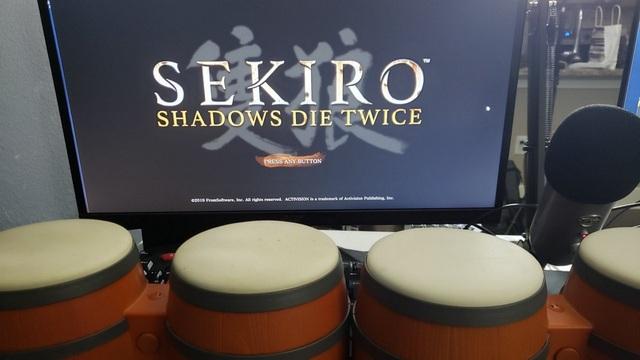 Sekiro прошли на барабанах бонго от Donkey Konga